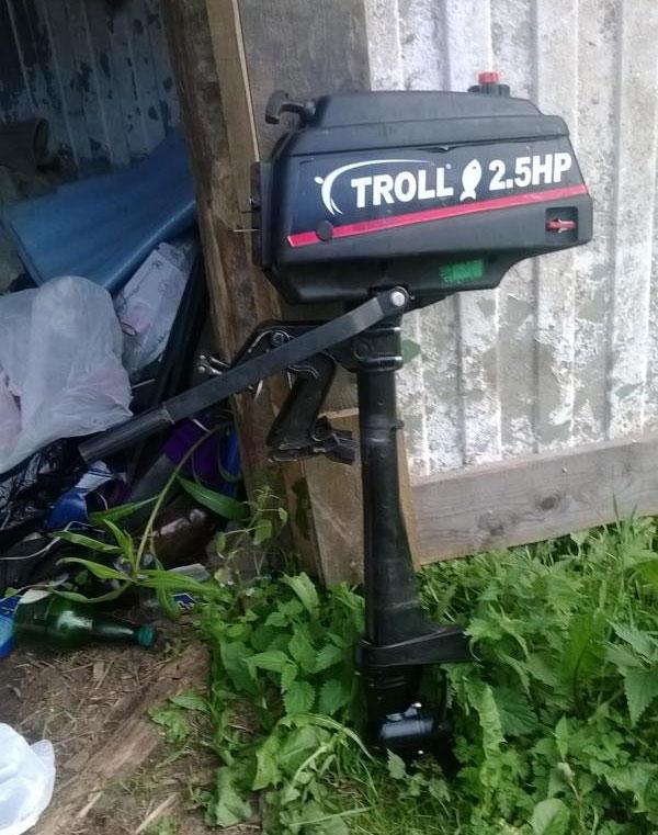 2 тактные лодочные мотор тролл